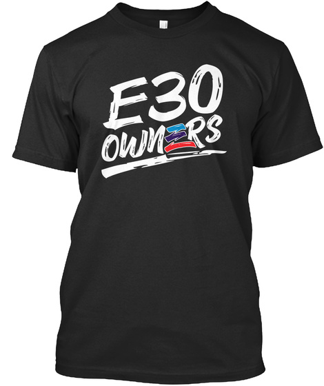 E30 Owners Black T-Shirt Front