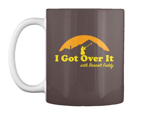 I Got Over It With Bennett Foddy Dk Brown T-Shirt Front