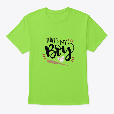 That's My Boy Lime T-Shirt Front