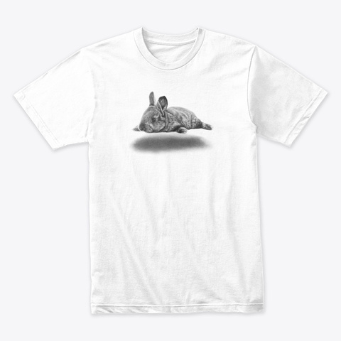 Hover Bunny White T-Shirt Front