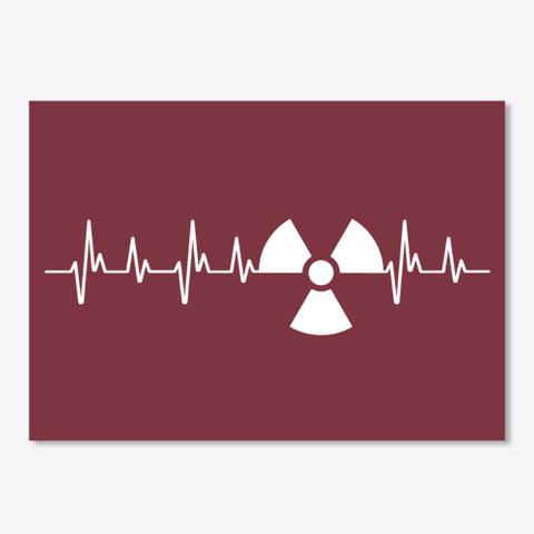 Radiology Heartbeat Maroon T-Shirt Front