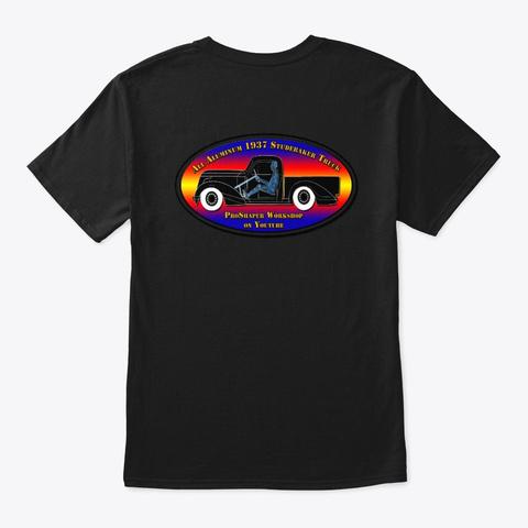 1937 Studebaker Truck Black T-Shirt Back