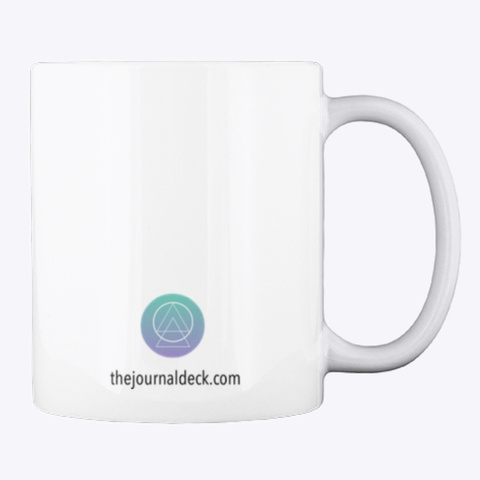 Journal Coffee Yoga Mug White Mug Back