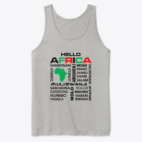 Hello Africa Athletic Heather T-Shirt Front
