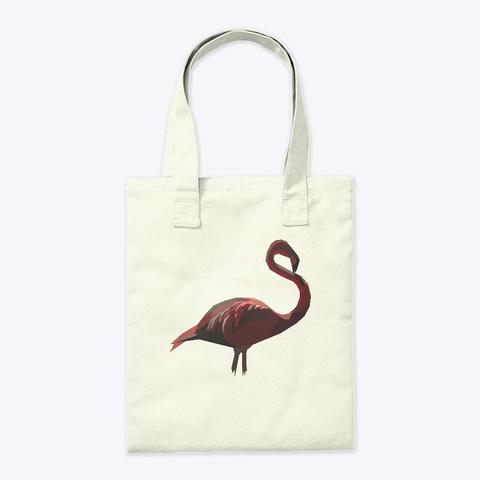 Poly Art Flamingo Clasic Natural T-Shirt Back