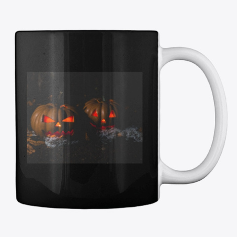 Halloween Mugs Black T-Shirt Back