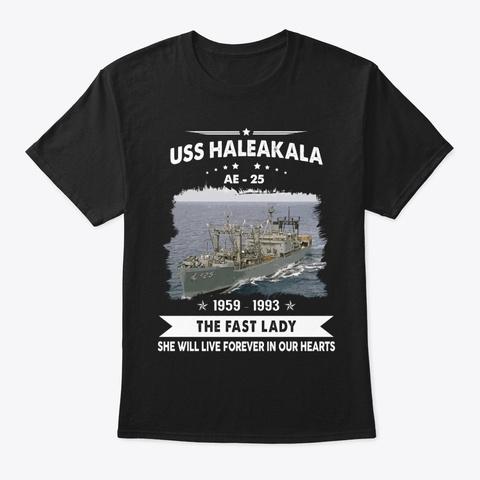 Uss Haleakala Ae 25 Memories Black T-Shirt Front