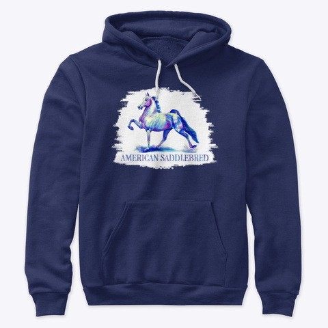 """Flying Colors""   American Saddlebred Navy T-Shirt Front"