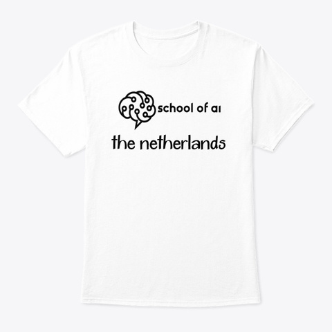 The School Of Ai The Netherlands White T-Shirt Front