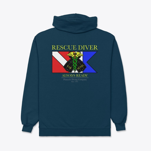 Pdc Rescue Hoodie 2 Navy T-Shirt Back