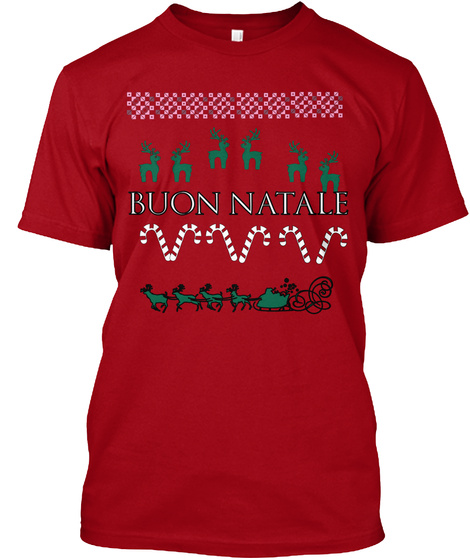 Buon Natale Deep Red T-Shirt Front