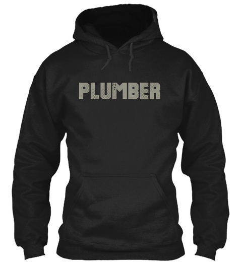 Plumber Black T-Shirt Front