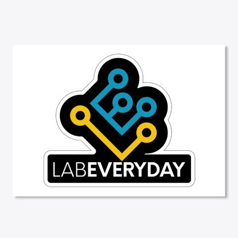 Lab Everyday Logo Sticker White T-Shirt Front
