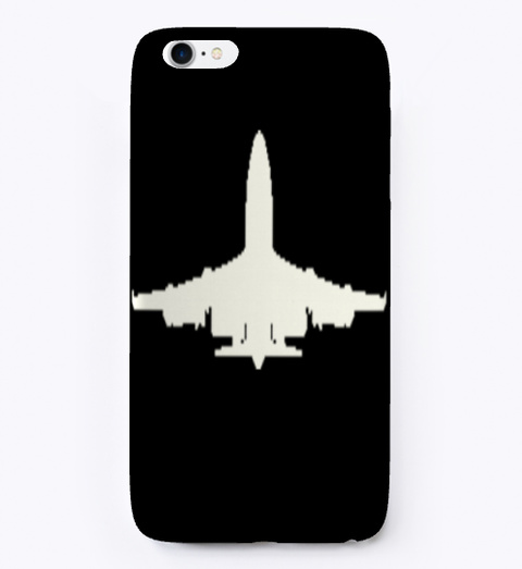 Aircraft Design Iphone Case Black T-Shirt Front