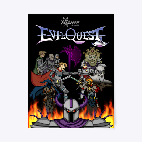Evil Quest Original Box Art Poster White T-Shirt Front