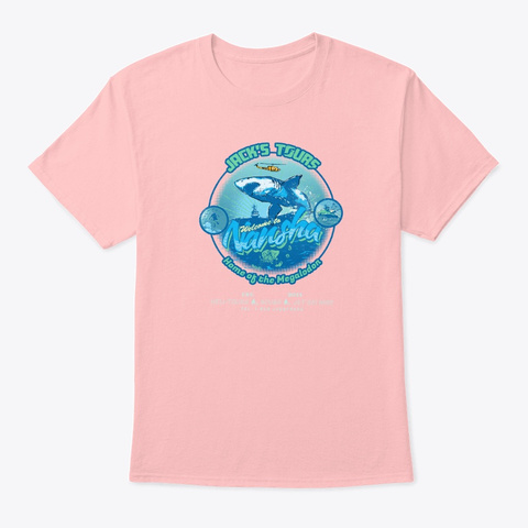Jack Frags   Jack's Tours B Pale Pink T-Shirt Front
