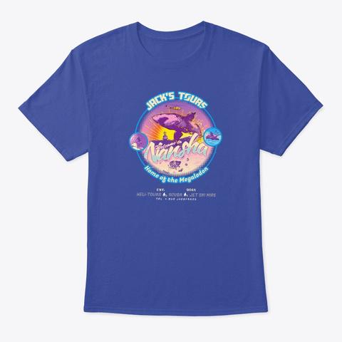 Jack Frags   Jack's Tours A Deep Royal T-Shirt Front