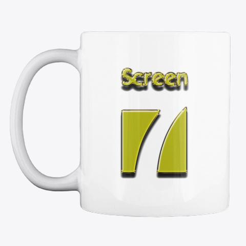 Screen 7 Mug (Gold Logo) White Mug Front