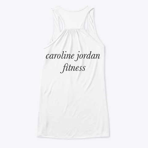 Highly Meditated Fitness Tank White T-Shirt Back