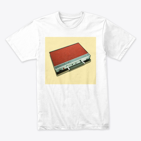 Portable Radio White T-Shirt Front