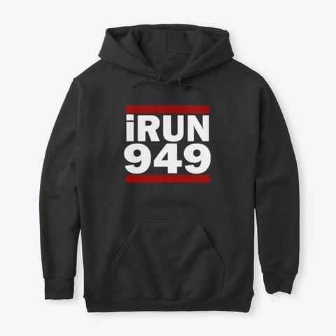 I Run 949 Area Code Design Irvine Black T-Shirt Front