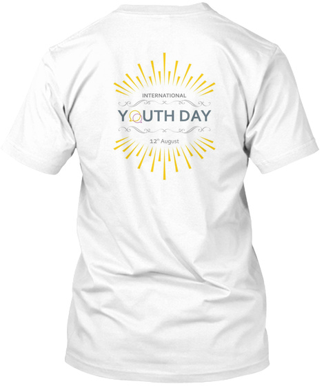 International Youth Day White T-Shirt Back