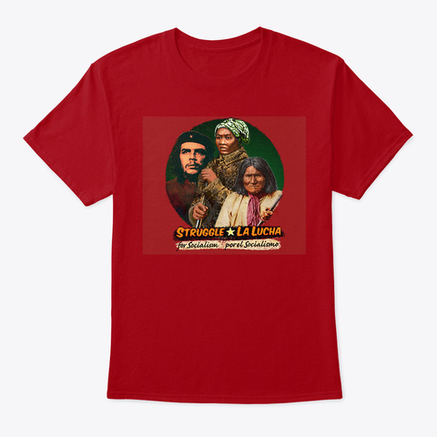 Che Guevara, Harriet Tubman, Geronimo Deep Red T-Shirt Front