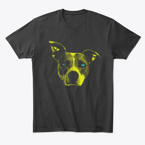 Dog Starring Into A Sunrise Black T-Shirt Front