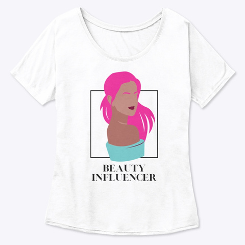 Pink Beauty White  T-Shirt Front