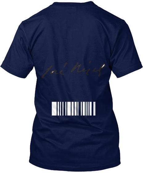 2 0 1 7 2 0 1 8 Navy T-Shirt Back