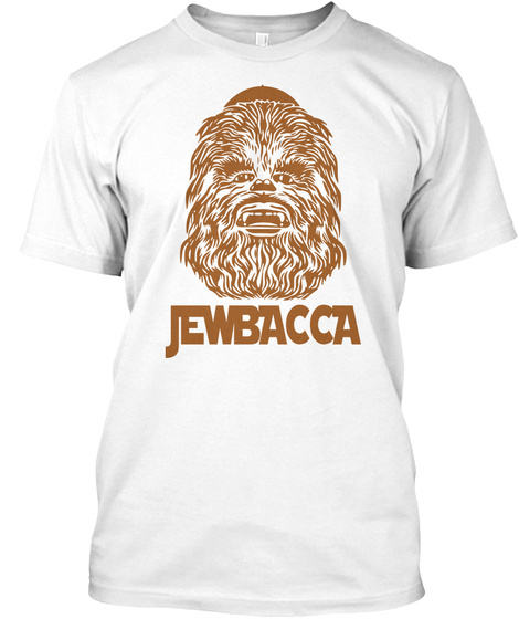 Jewbacca White T-Shirt Front