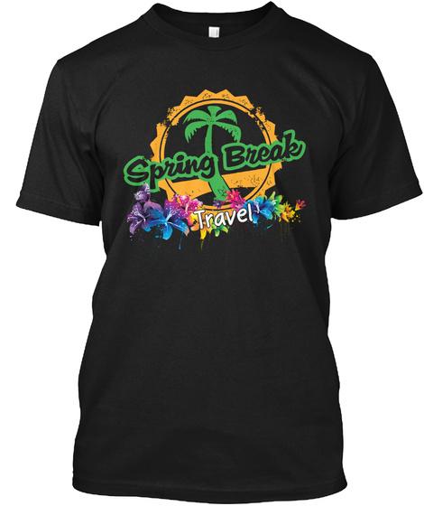 Spring Break Black T-Shirt Front