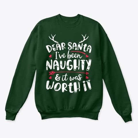 It Was Worth It T Shirt Xmas Deep Forest  T-Shirt Front