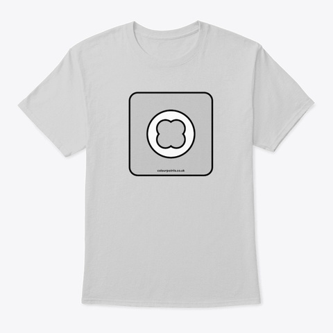 Corfe Castle T Shirt By Colour Points Light Steel T-Shirt Front