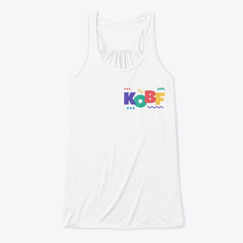 Kiss Of Beauty Fitness White T-Shirt Front