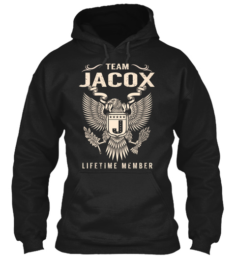 Team Jacox J Lifetime Member Black T-Shirt Front