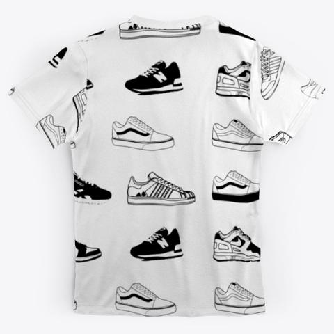 Old School 80s Sneaker A Standard T-Shirt Back