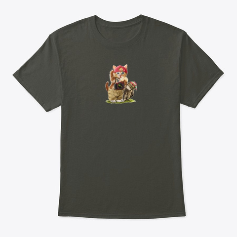 Funny Cats Smoke Gray T-Shirt Front