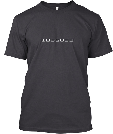 18650 Charcoal Black T-Shirt Front