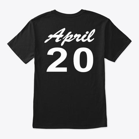 April 20   Taurus Black T-Shirt Back
