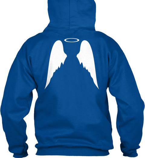 """Demigod"" Hoodie Royal Sweatshirt Back"