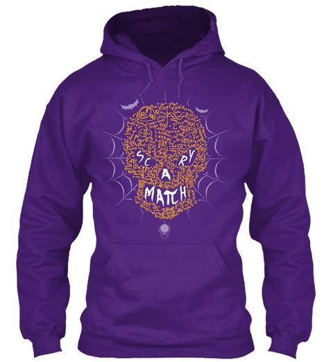 Scary Match Purple T-Shirt Front