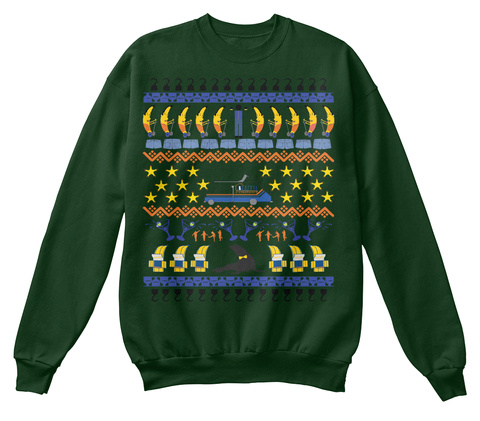 Arrested Development Ugly Sweater Deep Forest  T-Shirt Front