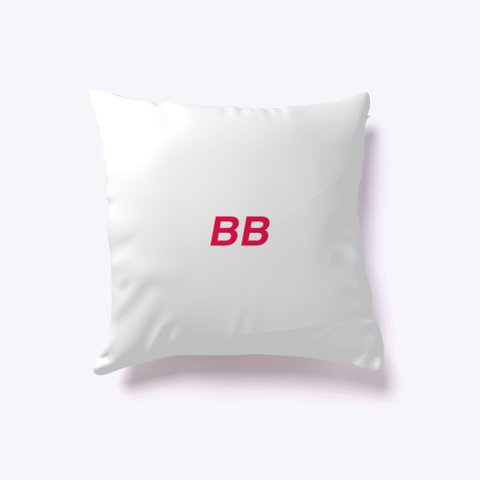 Burch Bros Indoor Pillow  White T-Shirt Back