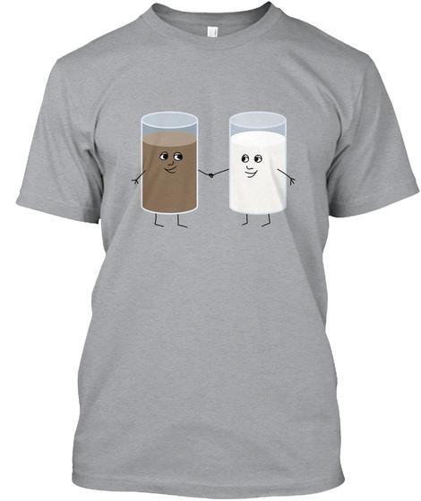 Milk Buddies Tee Heather Grey T-Shirt Front