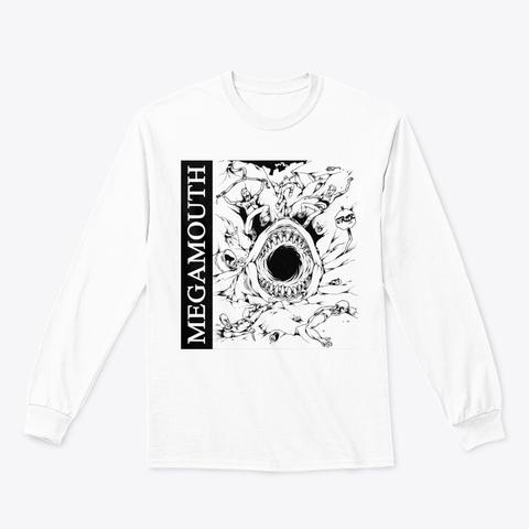 Megamouth Comeback Nothing Long Sleeve White T-Shirt Front