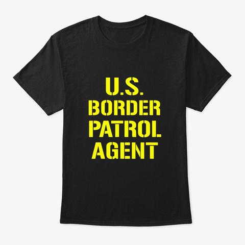 Us Border Patrol Agent Halloween Costume Black T-Shirt Front