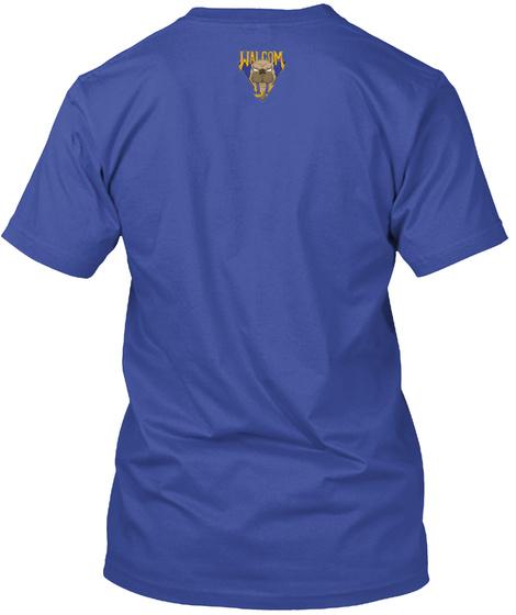 Walcom Deep Royal T-Shirt Back