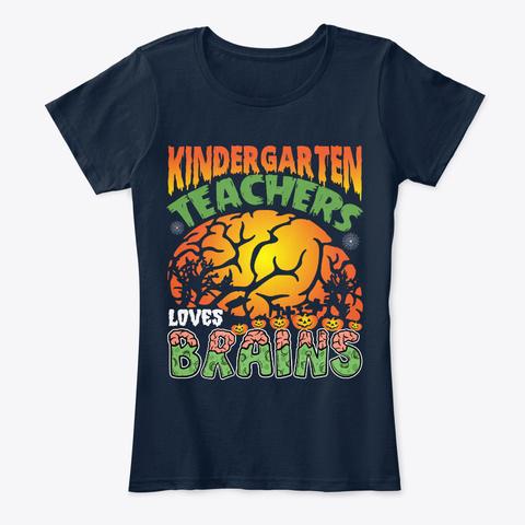 Kindergarten T Shirts For Teachers New Navy T-Shirt Front