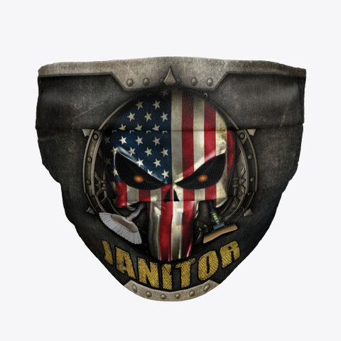 Awesome Janitor Mask Black T-Shirt Front